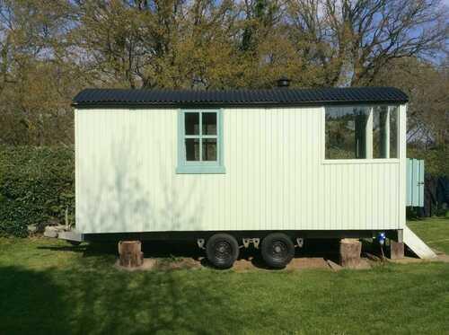 Shepherds hut garden room office trailer mounted