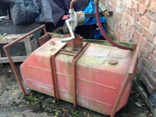 Fuel tank  Bowser with pump  Tractor fuel  Red diesel