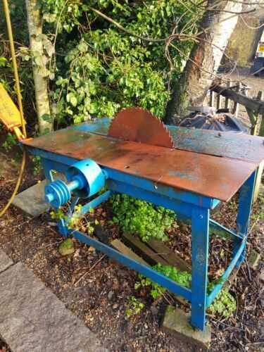 Denning of Chard Saw Bench Belt Driven Tractor, Wood, Logs