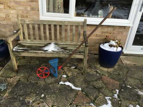 VINTAGE  BOOKER HAND SEED DRILL. CHILDREY WANTAGE. WORKING ORDER.