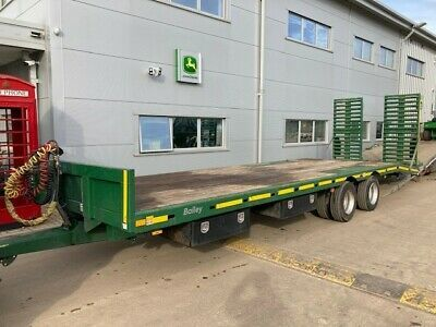 2018 Bailey Low Loader Trailer Low 15 Beavertail 15 Ton 24' Bed