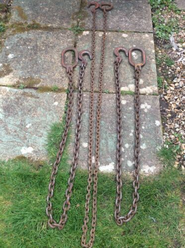 Set Of 3 Tractor Lifting Chains