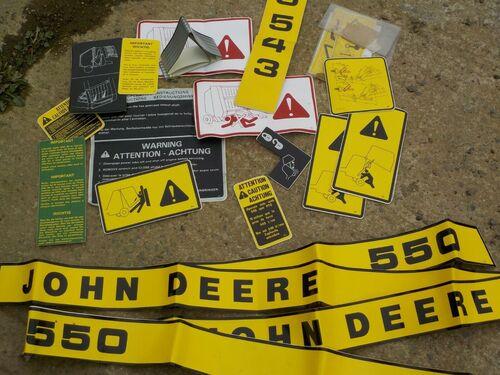 John Deere 550 Round Baler Decals Stickers  VAT Inc