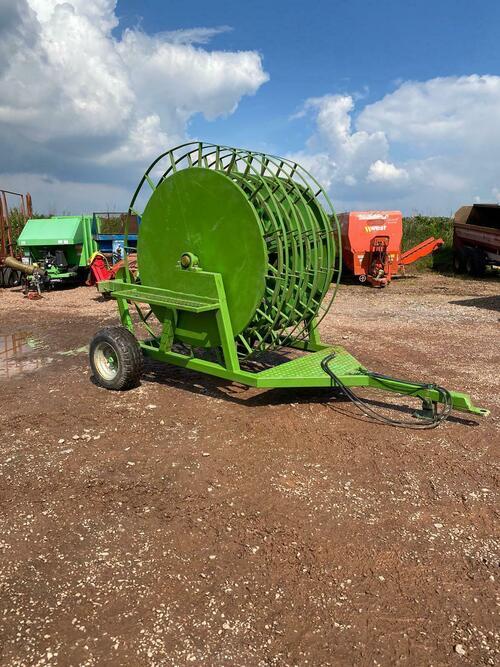 slurry reeler tractor slurry pipe reeler coil trailer